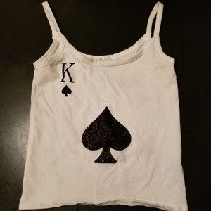 King of spades tank top